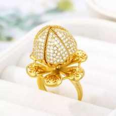 Flower bloom ring for girls & women- Blooming ring- Rose ring- crystal ring-...